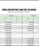 Mẫu bảng cân đối số phát sinh trên Excel