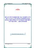 ĐỒ ÁN TỐT NGHIỆP ĐỀ TÀI: NGHIÊN CỨU JSP VÀ JAVA, XÂY DỰNG WEBSITE BÁN HÀNG CHO CÔNG TY CỔ PHẦN CHẾ BIẾN GỖ VIỆT ĐỨC – KHAVIWOOD