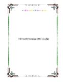 Microsoft Frontpage 2002 toàn tập