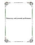 Democracy and economic performance