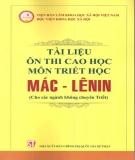 Tài liệu thi cao học môn triết học Mác-Lênin
