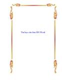 Tin học căn bản MS Word