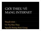Thuyết trình: Giới thiệu về mạng Internet