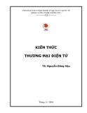 Giáo trình Kiến thức thương mại điện tử - TS. Nguyễn Đăng Hậu
