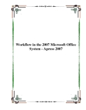 Workflow in the 2007 Microsoft Office System - Apress 2007