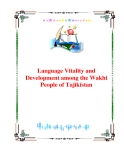 "Report:""Language Vitality and Development among the Wakhi People of Tajikistan"""