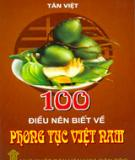 Ebook Phong tục Việt Nam - Một trăm điều nên biết về phong tục Việt Nam
