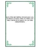 BẢN CÔNG BỐ THÔNG TIN BÁN ĐẤU GIÁ CỔ PHẦN LẦN ĐẦU CÔNG TY NÔNG SẢN THỰC PHẨM XUẤT KHẨU TP CẦN THƠ (MEKONIMEX)