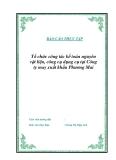 """Luận văn tốt nghiệp """"Tổ chức công tác kế toán NVL, CCDC tại Công ty may xuất khẩu Phương Mai"""""""