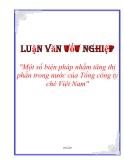 """Luận văn tốt nghiệp """"Một số biện pháp nhằm tăng thị phần trong nước của Tổng công ty chè Việt Nam"""""""