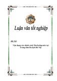 Luận văn tốt nghiệp: Vận dụng các chính sách Marketing-mix tại Trung tâm Du lịch Hà Nội