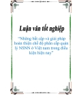"""Luận văn tốt nghiệp """"Những bất cập và giải pháp hoàn thiện chế độ phân cấp quản lý NSNN ở Việt nam trong điều kiện hiện nay"""""""