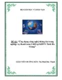 """Luận văn tốt nghiệp """"Ứng dụng công nghệ thông tin trong nghiệp vụ thanh toán LKB tại KBNN Tỉnh Hà Giang"""""""
