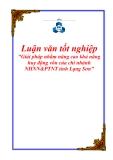 Luận văn tốt nghiệp: Giải pháp nhằm nâng cao khả năng huy động vốn của chi nhánh NHNN&PTNT tỉnh Lạng Sơn