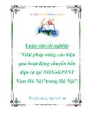 """Luận văn tốt nghiệp """"Giải pháp nâng cao hiệu quả hoạt động chuyển tiền điện tử tại NHNo&PTNT Nam Hà Nội"""""""