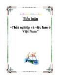 """Tiểu luận """"Thất nghiệp và việc làm ở Việt Nam"""""""