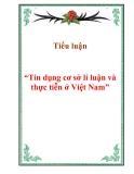 """Tiểu luận """"Tín dụng cơ sở lí luận và thực tiễn ở Việt Nam"""""""