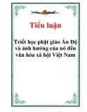 Tiểu luận Triết học: Triết học Phật giáo Ấn Độ và ảnh hưởng của nó đến văn hóa - Xã hội Việt Nam