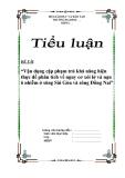 """Tiểu luận  """"Vận dụng cặp phạm trù khả năng hiện thực để phân tích về nguy cơ xói lở và nạn ô nhiễm ở sông Sài Gòn và sông Đồng Nai"""""""