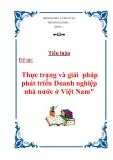 """Tiểu luận """"Thực trạng và giải  pháp phát triển Doanh nghiệp nhà nước ở Việt Nam"""""""