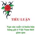 """Tiểu luận """"Nạn sản xuất và buôn bán hàng giả ở Việt Nam thời gian qua"""""""