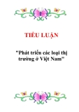 """Tiểu luận """"Phát triển các loại thị trường ở Việt Nam"""""""
