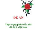 """Đề án """"Thực trạng phát triển nhà đô thị ở Việt Nam"""""""