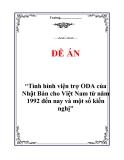 """Đề án """"Tình hình viện trợ ODA của Nhật Bản cho Việt Nam từ năm 1992 đến nay và một số kiến nghị"""""""