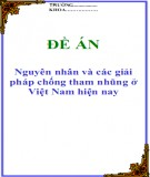 Đề án: Nguyên nhân và các giải pháp chống tham nhũng ở Việt Nam hiện nay