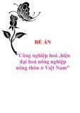 """Đề án """"Công nghiệp hoá ,hiện đại hoá nông nghiệp nông thôn ở Việt Nam"""""""