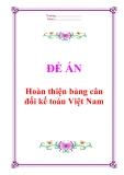 """Đề án """"Hoàn thiện bảng cân đối kế toán Việt Nam"""""""