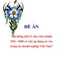 """Đề án về """"Hệ thống QLCL theo tiêu chuẩn ISO - 9000 và việc áp dụng nó vào trong các doanh nghiệp Việt Nam"""""""