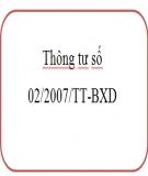 Thông tư số 02/2007/TT-BXD