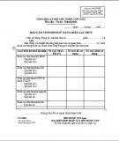 Báo cáo tình hình sử dụng biên lai thuế