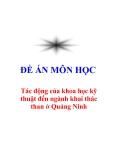 """Đề án """"Tác Động Của Tiến Bộ Khoa Học Công Nghệ Tới Phát Triển Ngành Than Ở Quảng Ninh"""""""