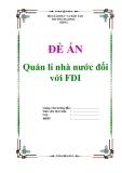 """Đề án về """"Quản lí nhà nước đối với FDI"""""""