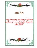 """Đề án """"Dự báo cung lao động Việt Nam (số lượng và cơ cấu) giai đoạn đến năm 2010"""""""