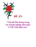 """Đề án """"Vấn đề tiền lương trong các doanh nghiệp nhà nước ở Việt Nam hiện nay"""""""
