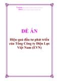 """Đề án về """"Hiệu quả đầu tư phát triển của Tổng Công ty Điện Lực Việt Nam (EVN)"""""""