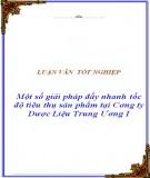 Đề án: Một số giải pháp về kênh phân phối nhằm tiêu thụ sản phẩm của công ty bia Việt Hà tại thị trường Hà Nội