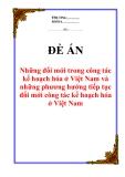 """Đề án """"Những đổi mới trong công tác kế hoạch hóa ở Việt Nam và những phương hướng tiếp tục đổi mới công tác kế hoạch hóa ở Việt Nam"""""""