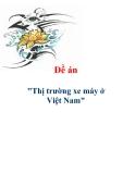 """Đề án """"Thị trường xe máy ở Việt Nam"""""""
