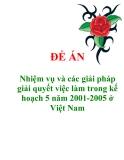 """Đề án """"Nhiệm vụ và các giải pháp giải quyết việc làm trong kế hoạch 5 năm 2001-2005 ở Việt Nam"""""""