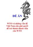 """Đề án """"WTO và những vấn đề Việt Nam cần giải quyết để trở thành thành viên của WTO"""""""
