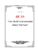 """Đề án """"Các vấn đề về cải cách hành chính ở Việt Nam"""""""