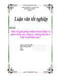 """Đề án """"Một số giải pháp nhằm hoàn thiện và phát triển các công ty chứng khoán ở Việt Nam hiện nay"""""""