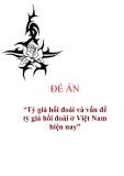 """Đề án """"Tỷ giá hối đoái và vấn đề tỷ giá hối đoái ở Việt Nam hiện nay"""""""