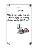 """Đề án """"Một số giải pháp thúc đẩy sự hoạt động thị trường chứng khoán Việt Nam"""""""