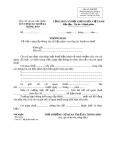 Mẫu thông báo về việc cung cấp thông tin, tài liệu phục vụ công tác thanh tra thuế