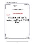 """Luận văn tốt nghiệp """"Phân tích tình hình thị trường của Công ty TNHH Hasa"""""""